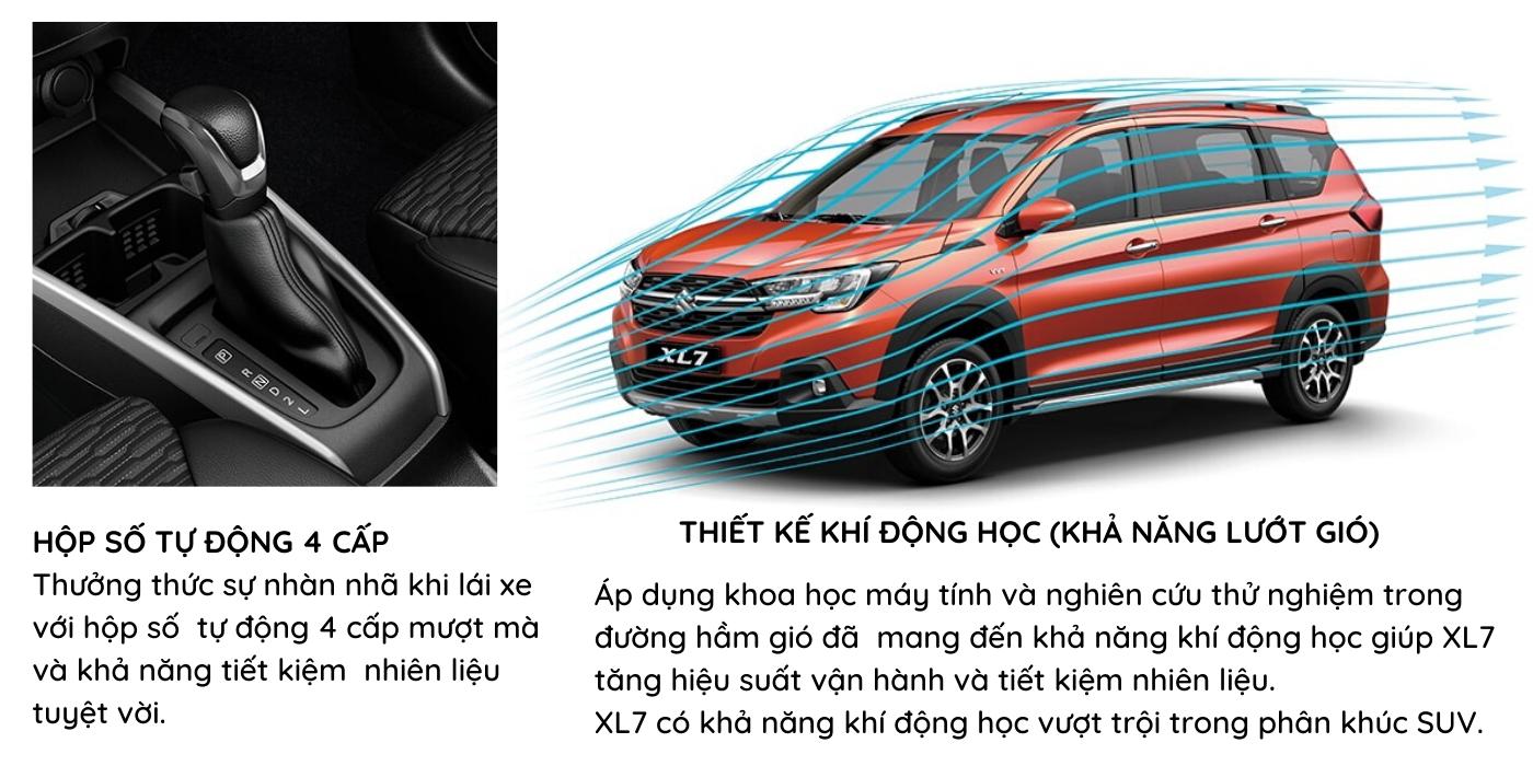 XL7 được trang bị hộp số tự động 4 cấp giúp việc lái xe được mượt mà hơn