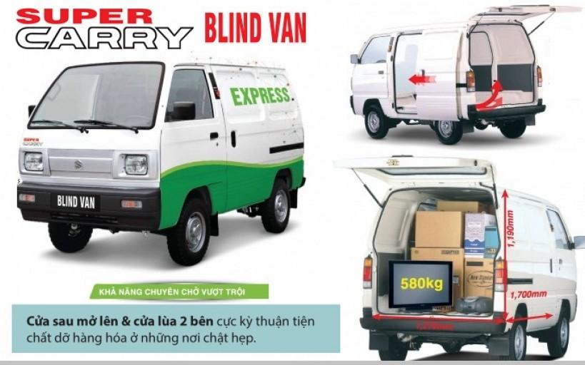 Kích thước xe Blind Van - 2
