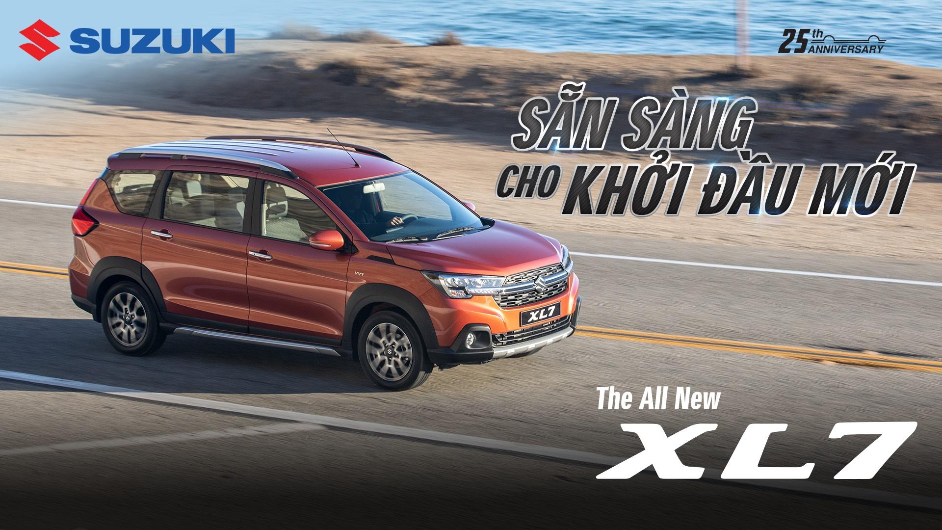 Thiết kế mạnh mẽ, thời thượng của xe ô tô Suzuki XL7