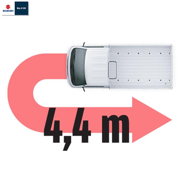 Chiều dài trục cơ sở xe ô tô tải Suzuki Carry Pro 2020 chỉ 4.4m