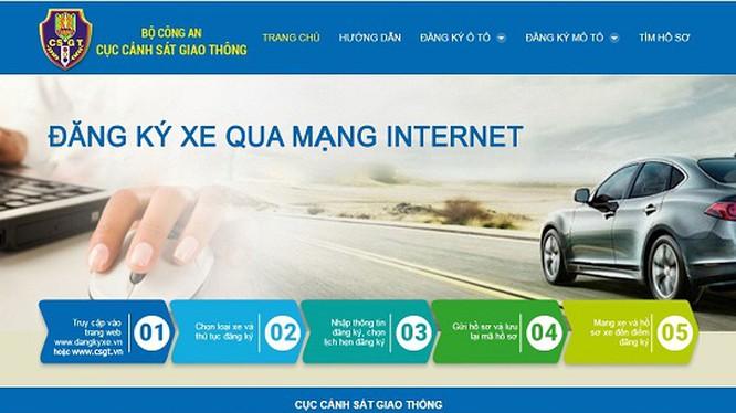 đăng ký xe qua mạng