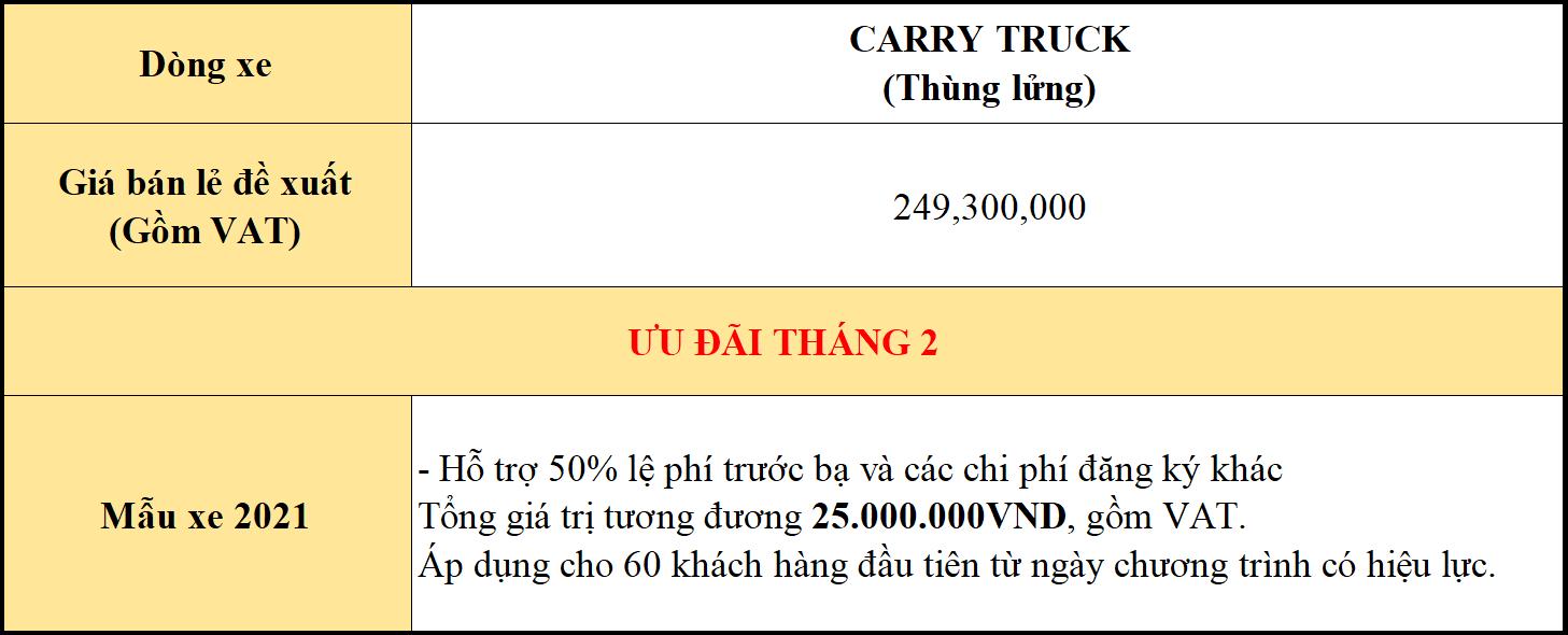 giá xe carry truck