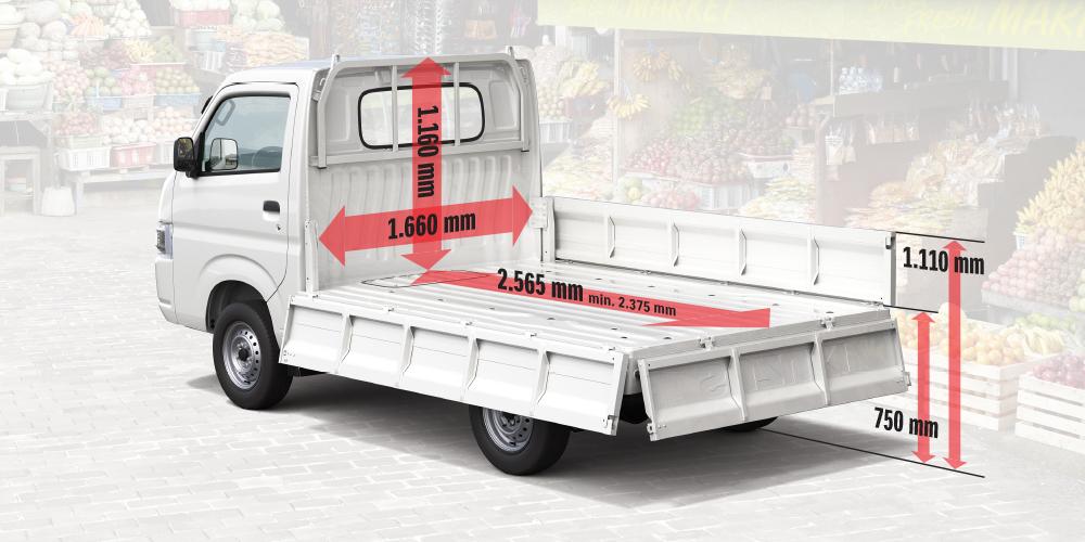 Kích thước xe tải Carry Pro
