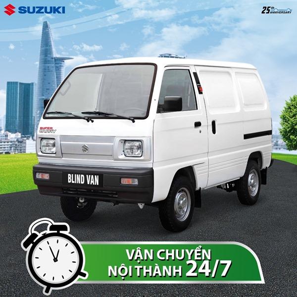 Mua xe tải nhẹ Blind Van tại Suzuki Hồng Phương - Vận chuyển nhanh 24/7 trong nội thành