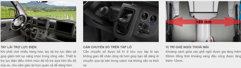 Một số ưu điểm về tay lái, cần chuyển số và vị trí ghế ngồi của xe tải nhẹ Carry Pro