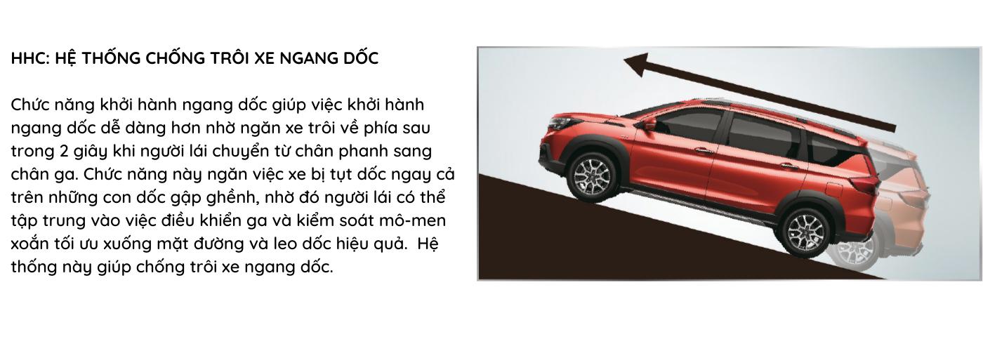 Hệ thống HHC giúp ngăn chặn việc xe bị tụt dốc SUZUKI XL7 AN TOÀN