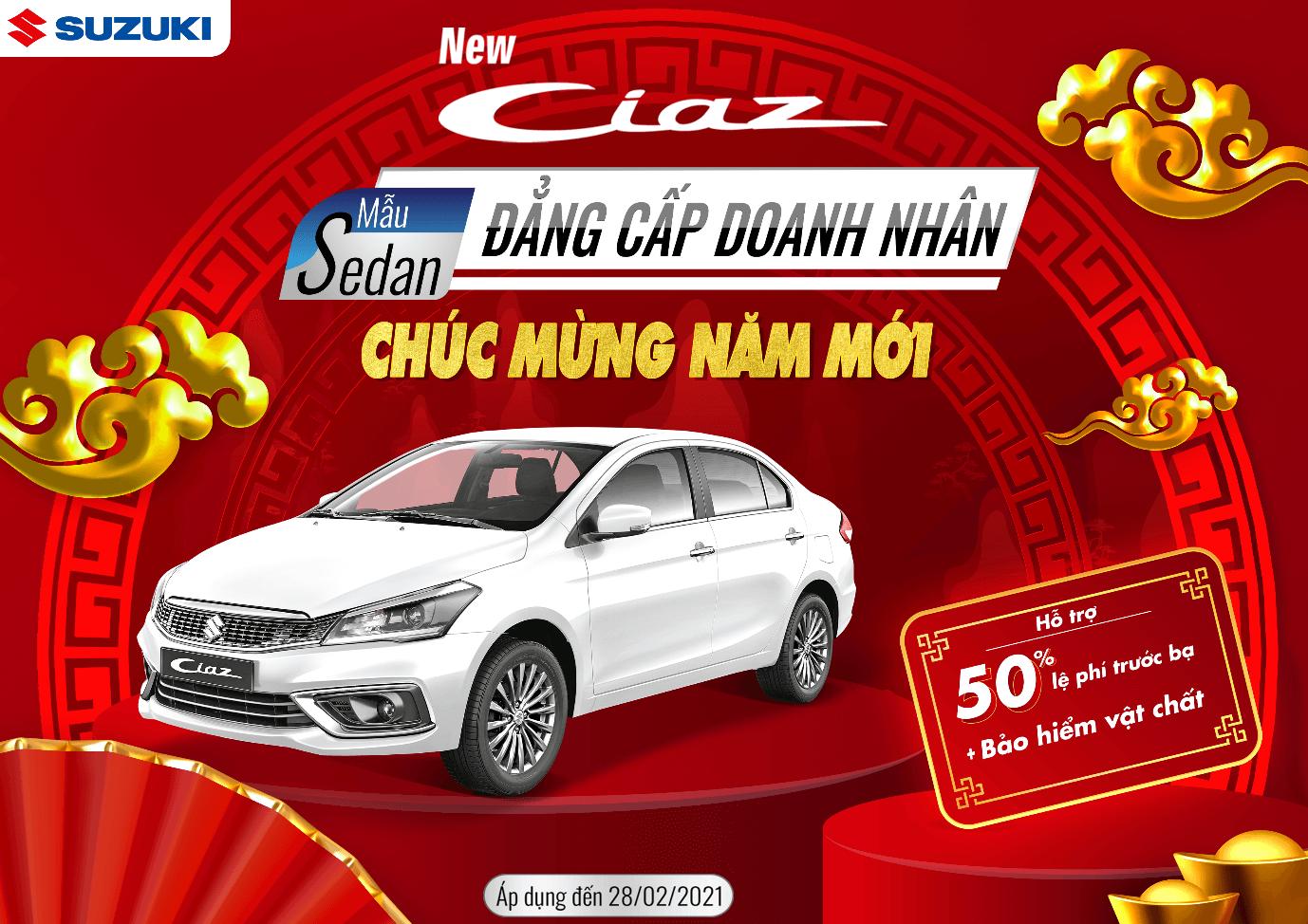Suzuki CIAZ KHUYẾN MÃI THÁNG 2